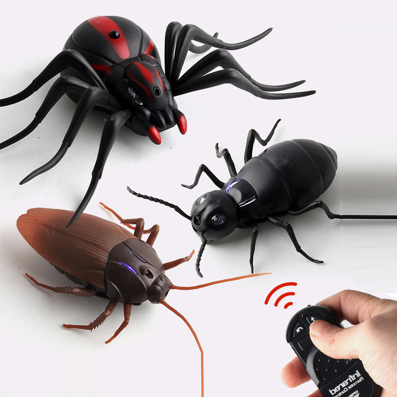 Infrared RC Remote Control Animal Insect Toy Smart Cockroach Spider Ant Insect Scary Trick Halloween Toy Christmas Kids Gift