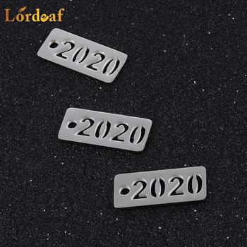 2020 nowe akcesoria DIY biżuteria ze stali nierdzewnej tanie i dobre opinie Lordeaf STAINLESS STEEL Alfabet Daty i numery moda Metal Klasyczny Charms