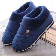 WEH men home slippers winter warm shoes roomSlippers Indoor Warm Soft Sole Male Felt Slipper Room Footwear big size 47 48 49