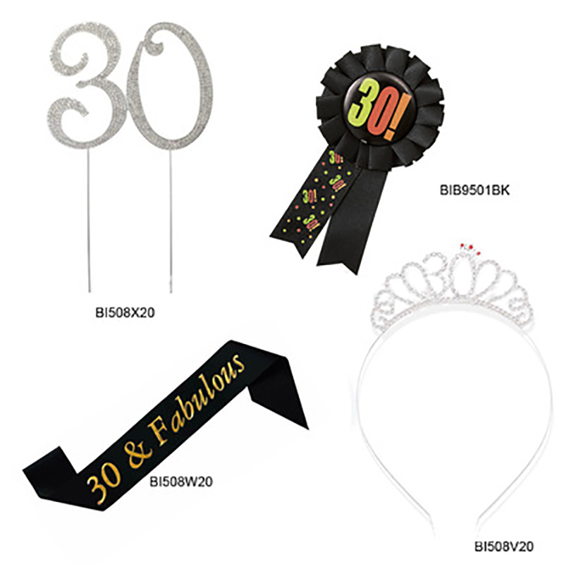 Wholesale And Customized New Adult Birthday Decoration Props Party Men's And Women's Birthday Party Supplies Birthday Badges