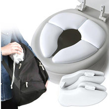 Children's Soft Portable Folding Child Baby Toilet Seat Soft Potty Chair Pad Cushion Training Accessories(China)