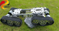 SZDOIT Full Metal 4WD Smart Robot Tank Car Chassis Kit Heavy Load Off Road Crawler Robotic Platform 12V Motor DIY For Arduino