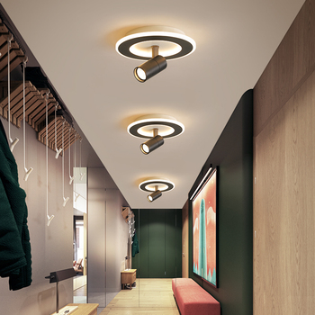 Bedroom lamp corridor clothing store can rotate modern LED ceiling Lights porch aisle balcony wall mounted ceiling lamp Fixtures
