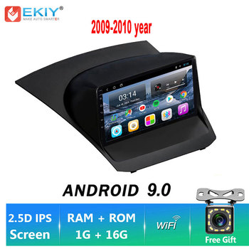 EKIY IPS Android 9.0 NO 2 DIN 1+16G Car Radio Stereo Multimedia DVD For Ford Fiesta 2009-2017 WIFI GPS Navigation Video Player image
