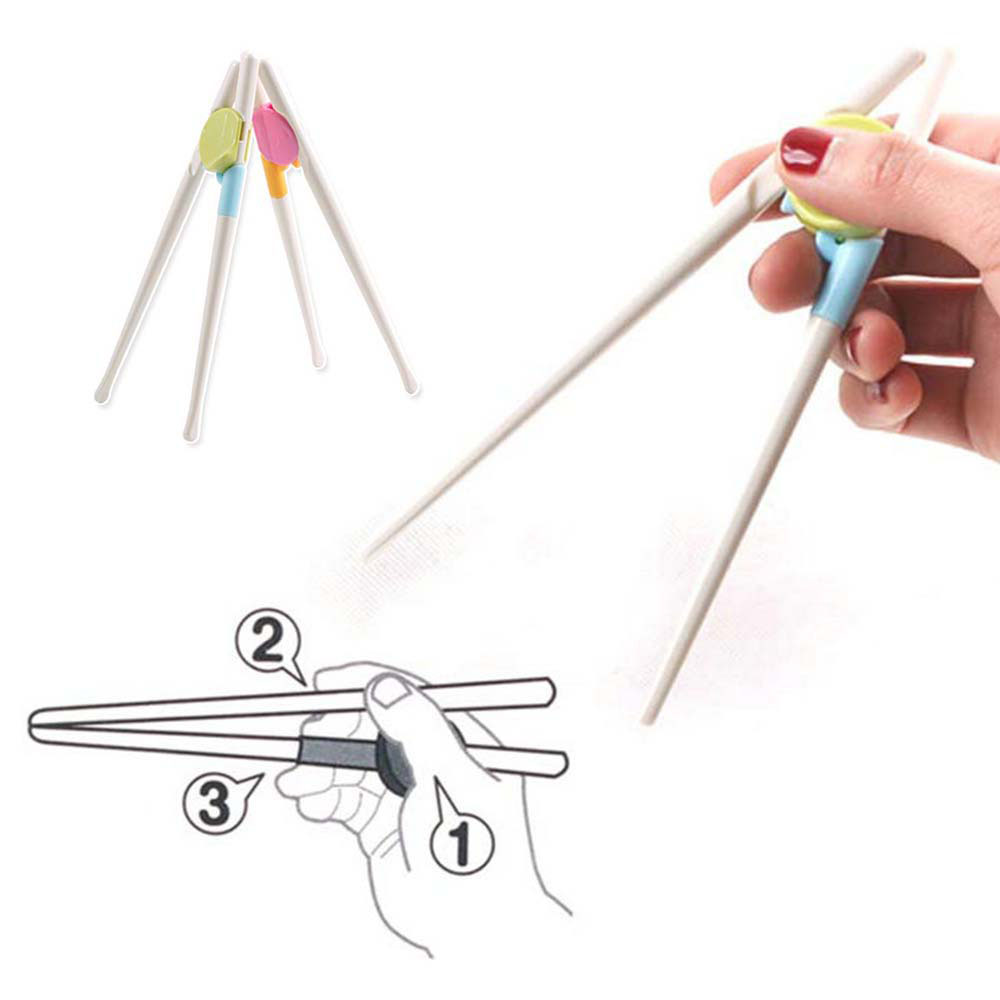 1 Pair Chopsticks for Sushi Baby Kids Cartoon Chopsticks  Easy Use Fun Learning Training Helper Dishes Dinner Game Kitchen tools