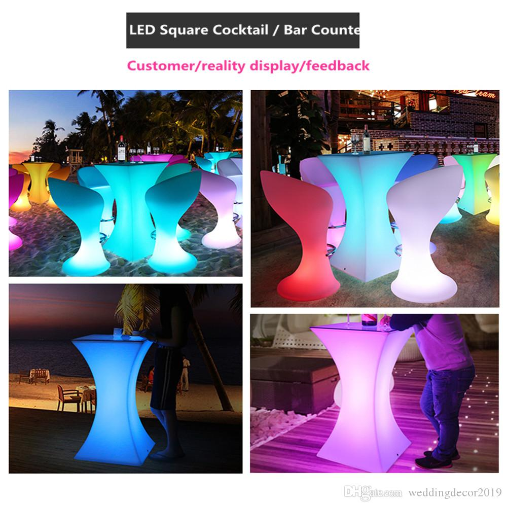 New Led Bar Table 16 Colors Changing Lighting Led Cocktail Table Illuminous Glowing Coffee Bar Stool For  Party Event Supplies