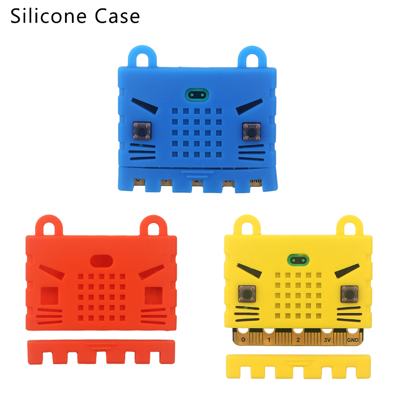 Micro:bit Silicone Case Protective Box Prevent Short Circuit Cute Red Yellow Blue Shell For BBC Micro:bit