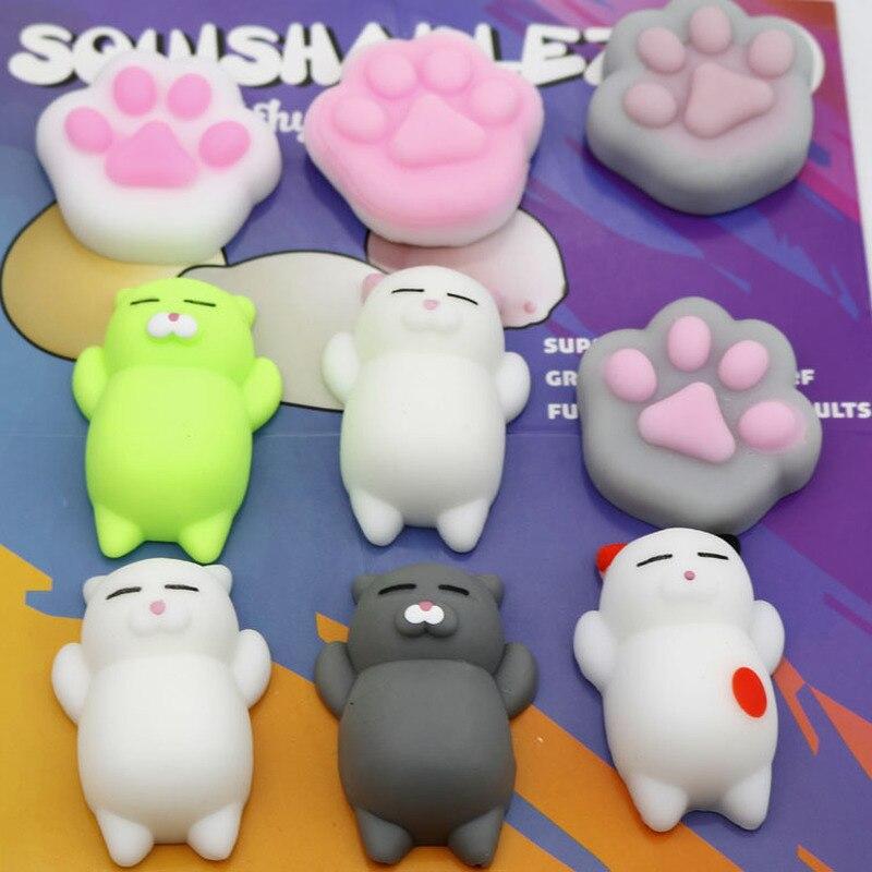 Schoencadeau Mash Ems Sensory Fidget Toys Squishy Cats Keychain Iraq Ding Ding Whale Squishy Squishy Splat Pig Hamburger Squishy