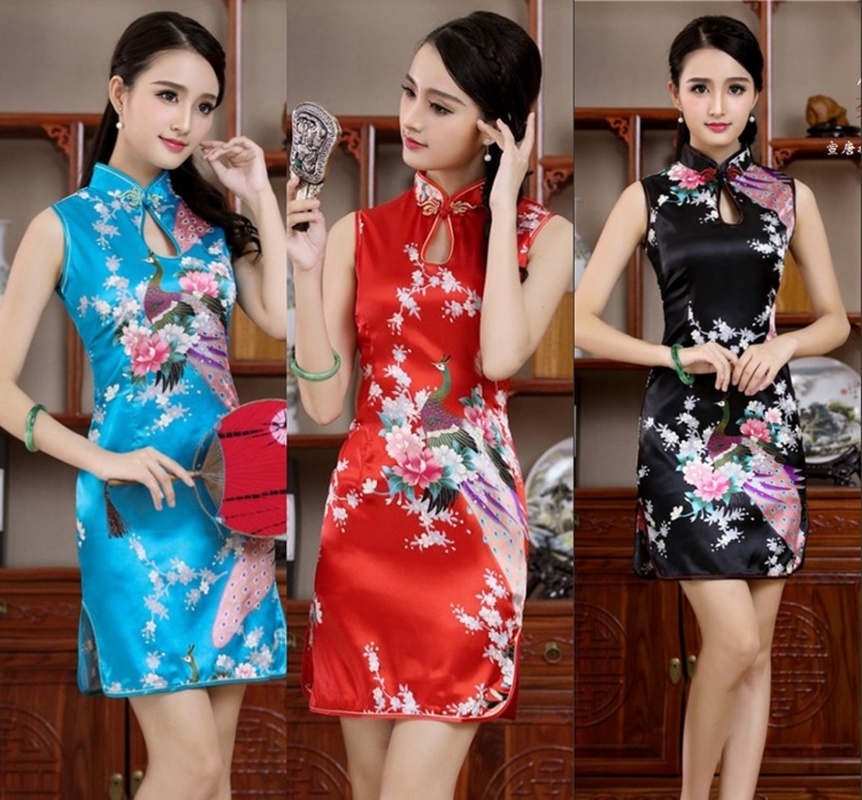 Daily Life New Cheongsam Improved Version nian qing kuan 2019 summer & autumn zhuang GIRL'S Chinese-style Short Dress Dress