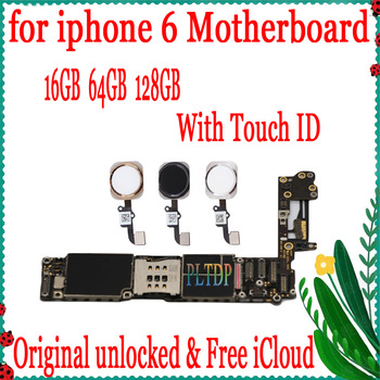 For iPhone 6 Tested Good Working Original Factory Unlocked Motherboard for iPhone 6 4.7inch mainboard With/Without Touch ID