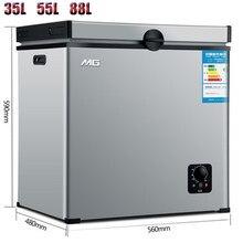 220v pequeno frigorífico freezer mini congelamento doméstico elétrico comercial refrigeração de armazenamento frio 35l 55l 88l frete grátis