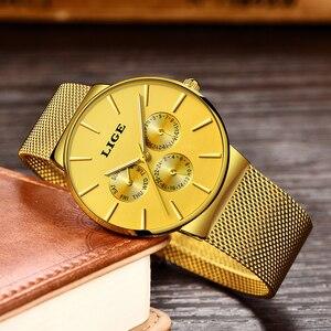 Image 2 - 2020 LIGE قائمة جديدة كاملة الذهب النساء ساعات كوارتز ساعة السيدات العلامة التجارية الفاخرة الإناث ساعة فتاة ساعة Relogio Feminin + صندوق