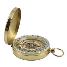 Zajęcia na świeżym powietrzu Camping piesze wycieczki przenośny mosiądz kieszonkowy złoty nowy kompas nawigacja wysokiej jakości tanie tanio Wiszące pierścień typu Aluminium Wskaźnik Wskazując przewodnik As the pictures show Compass Navigation Obóz