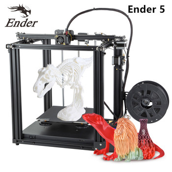 Ender-5 3D Printer DIY Kit Aluminum Profile Max 180mm/s Support Resume Printing with 8GB TF Card & PLA Filament 200g