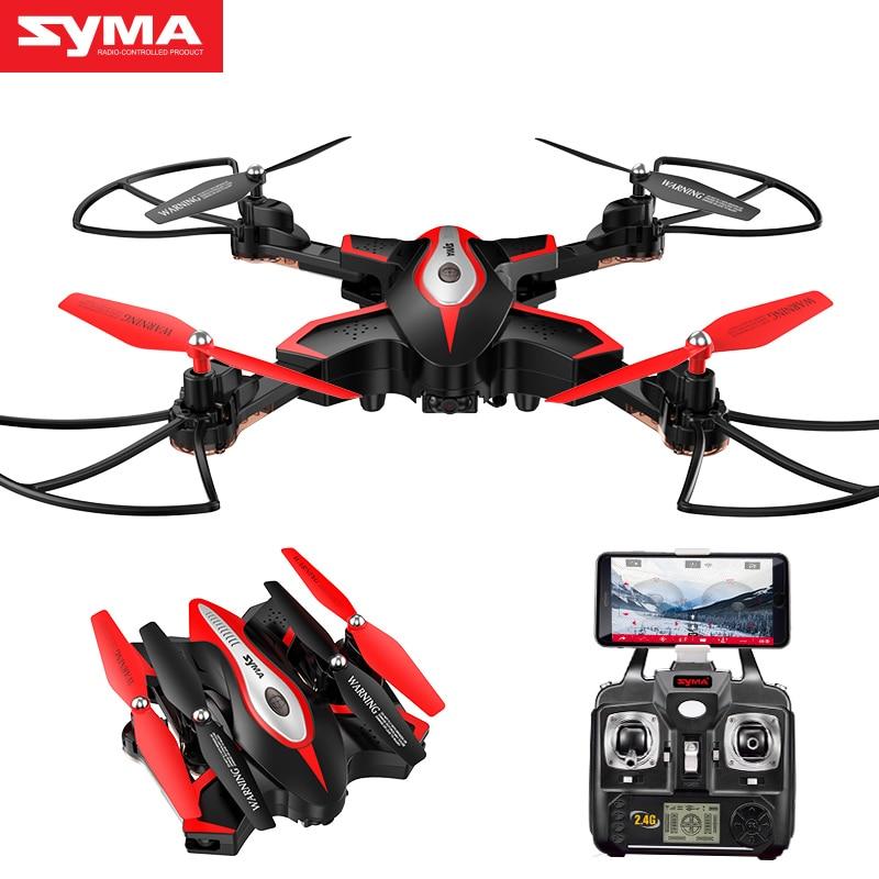 SYMA officiel X56W RC Drone pliant Quadrocopter avec caméra Wifi partage en temps réel lumière clignotante RC hélicoptère Drones avion - 4