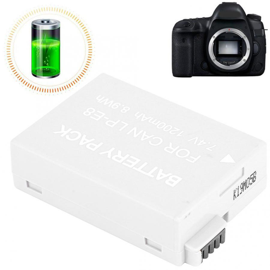 LP-E8 1200mAh Fully Decoded Camera Battery for <font><b>Canon</b></font> <font><b>EOS</b></font> Rebel T2i Rebel T3i T4i T5i <font><b>550D</b></font> 600D Camera <font><b>Accessories</b></font> image