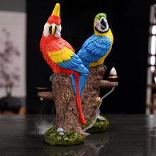 Hot Sale! New Macaw Resin Incense Burner Backflow Smoke Incense Holder Handicraft Home Decor 2019 Gift Shopify-Dropshipping стоимость