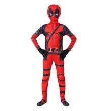 Kids Cosplay Deadpool Costume Kids Deadpool Superhero Costume Mask Costume Combination Bodysuit Halloween Party Costume Boy Girl