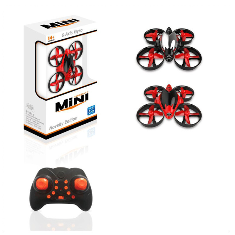 Cross Border Mini 4-Axis Aircraft 2.4G Children Electric Remote Control Aircraft 360-Degree Roll Pocket Unmanned Aerial Vehicle