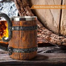 Wooden Barrel Stainless Steel Resin 3D Beer Mug Goblet Game Tankard Milk Coffee Cup Wine Glass Tumblers 650ml Best Got Gift 200ml hot sale creative home decoration 3d resin skull shape stainless steel wine goblet