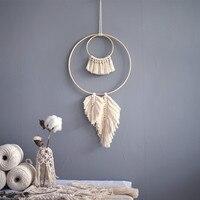 Macrame tapeçaria parede pendurado mão tecido sonho apanhador pendurado ornamentos sala de estar quarto simples mandala boho decoração|Tapeçaria|   -