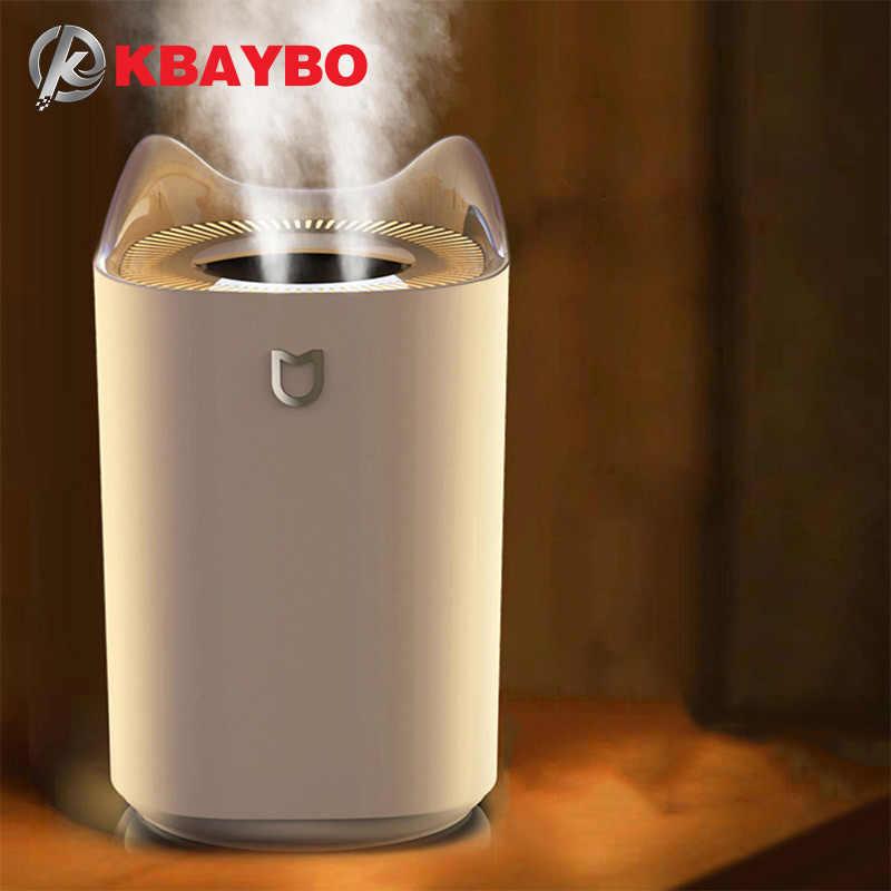 Kbaybo 3.3L Máy Tạo Độ Ẩm Không Khí Siêu Âm Tinh Dầu Khuếch Tán Mạnh Phun Sương Tạo Máy Khuếch Tán Tinh Dầu Làm Thơm Phòng Nhà Đèn LED