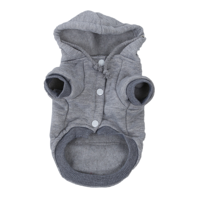 Новинка-одежда для кошек, зимняя теплая вязаная одежда для рождества, куртка для щенков, пальто с капюшоном, одежда(серый, S