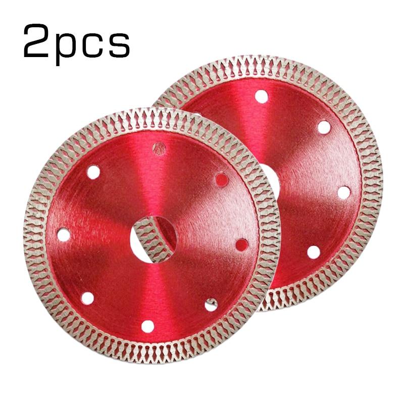 2pcs 110mm Ultra-thin Diamond Circular Saw Blade Disc For Ceramics Marble Concrete Porcelain Tile Stone Cutting Discs