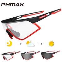 PHMAX Photochrome Radfahren Gläser Fahrrad UV400 Sport Sonnenbrille Anti Glare Leicht Pro Bike Radfahren Brillen Myopie Rahmen