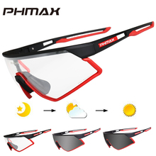 PHMAX Photochromic Cycling Glasses Bicycle UV400 Sports Sunglasses