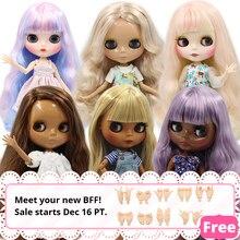 Blyth кукла ледяная 1/6 шарнир тело DIY обнаженные игрушки BJD модные куклы девушка подарок Специальное предложение на продажу с ручной набор A& B