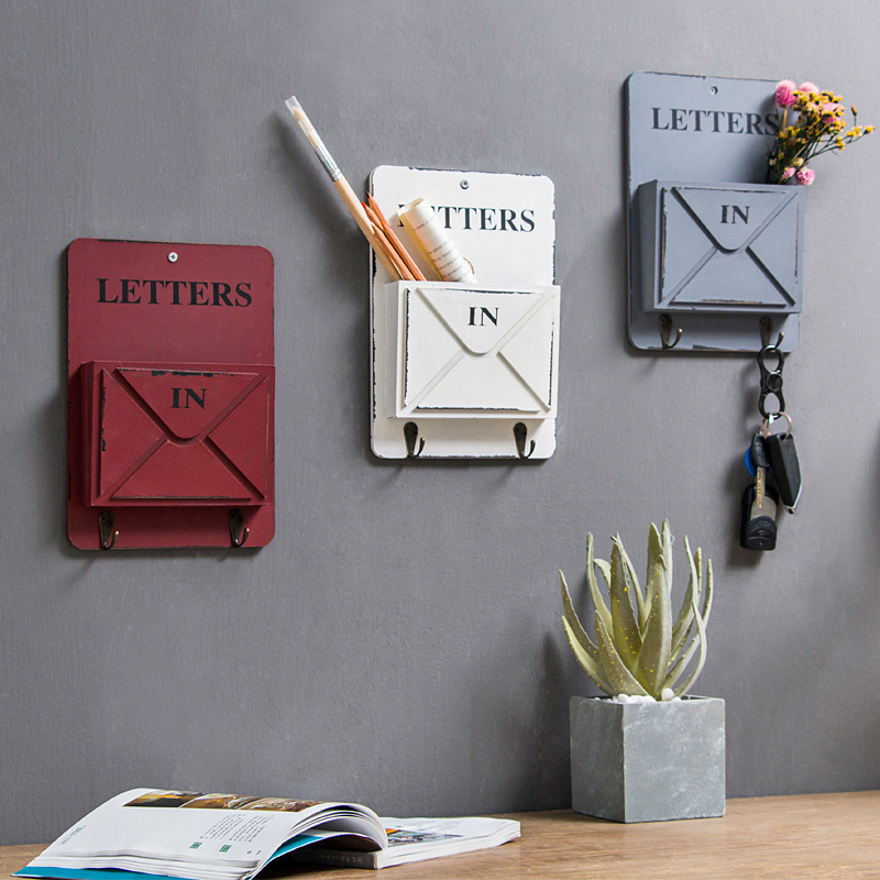 Industrial Style Milk Cafe Roast Bar Door Wall Retro Mailbox Hanging Decoration Fast-food Restaurant Simple Wall Hanging