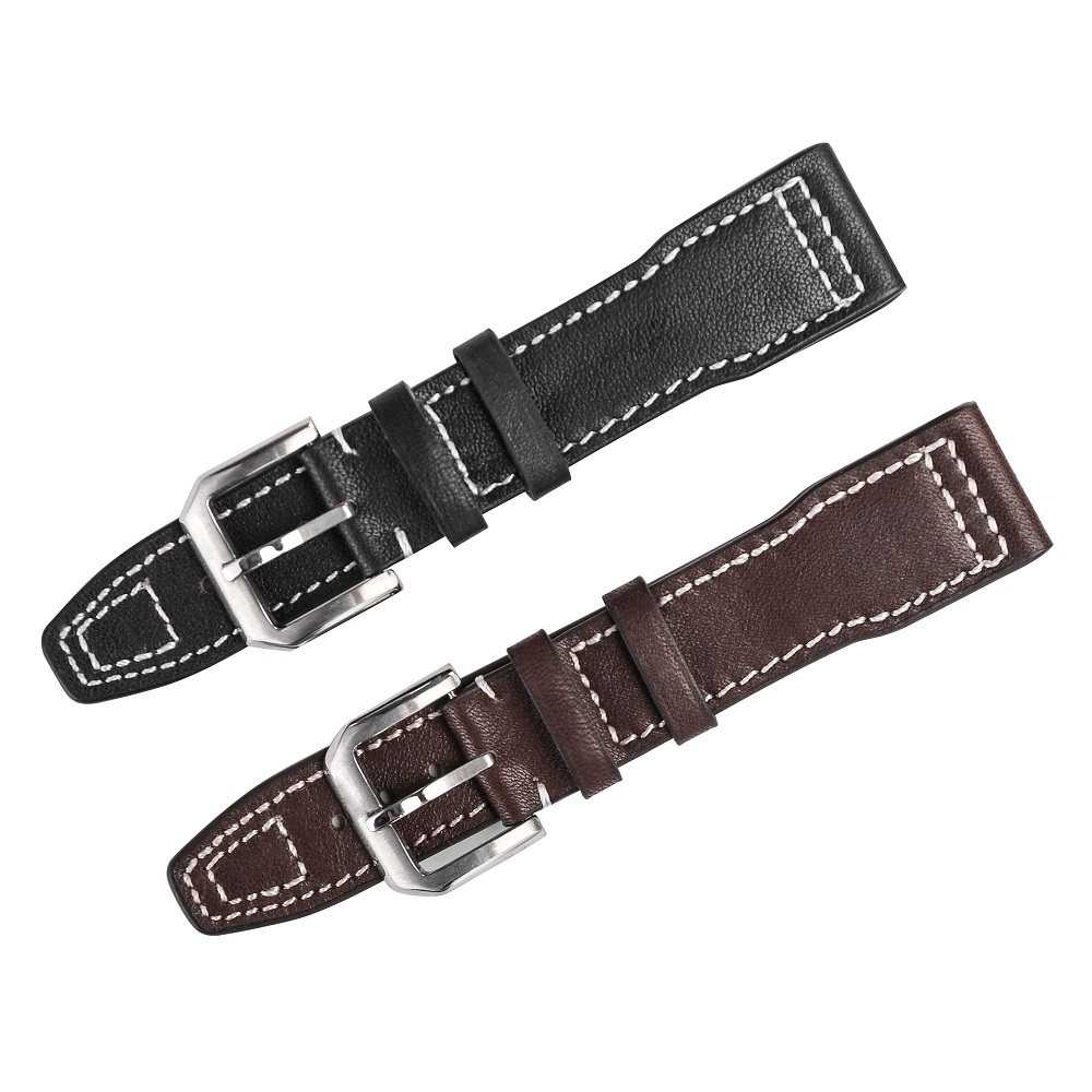Leather Watch Band Strap for Iwc Men Soft Genuine Leather Watch Strap 20mm 21mm Black Brown Strap