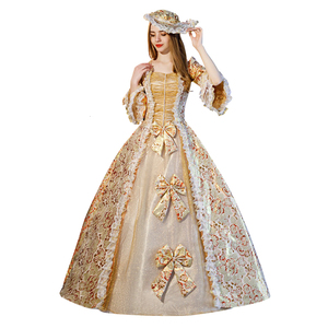 Женское бальное платье в викторианском стиле рококо, бальное платье в стиле барокко Марии-Антуанетты 18-го века, эпохи Возрождения и историч...