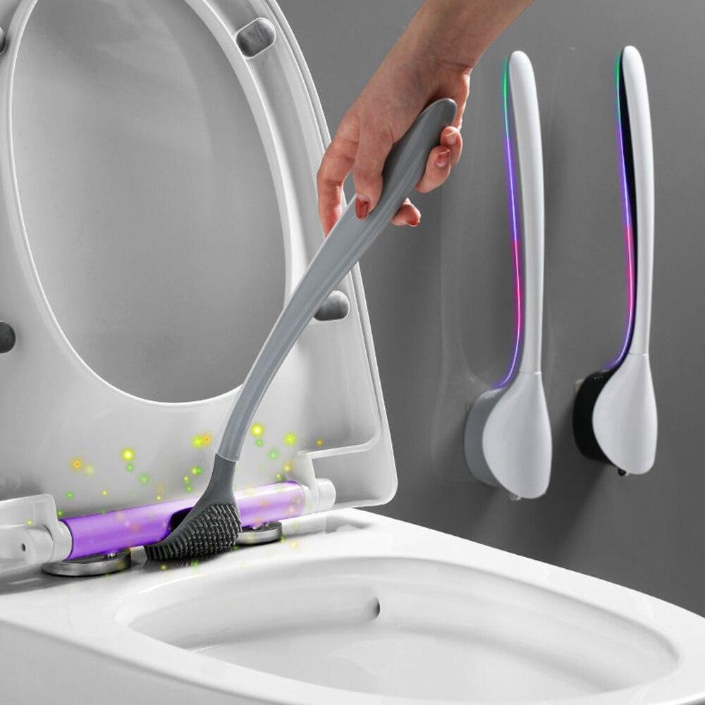 Wall-Mounted Silicone Flex Toilet Brush