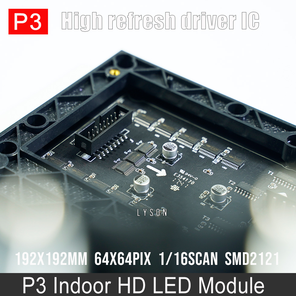 Image 4 - Indoor HD P3 SMD Full Color LED Display Module 64x64 Pixels 3 in 1 RGB 192*192mmp3 led moduleled display modulep3 smd -