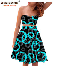 2017 sexy afrcian dress for women wrap chest pure cotton africane style femme clothing bzain riche plus size A722611
