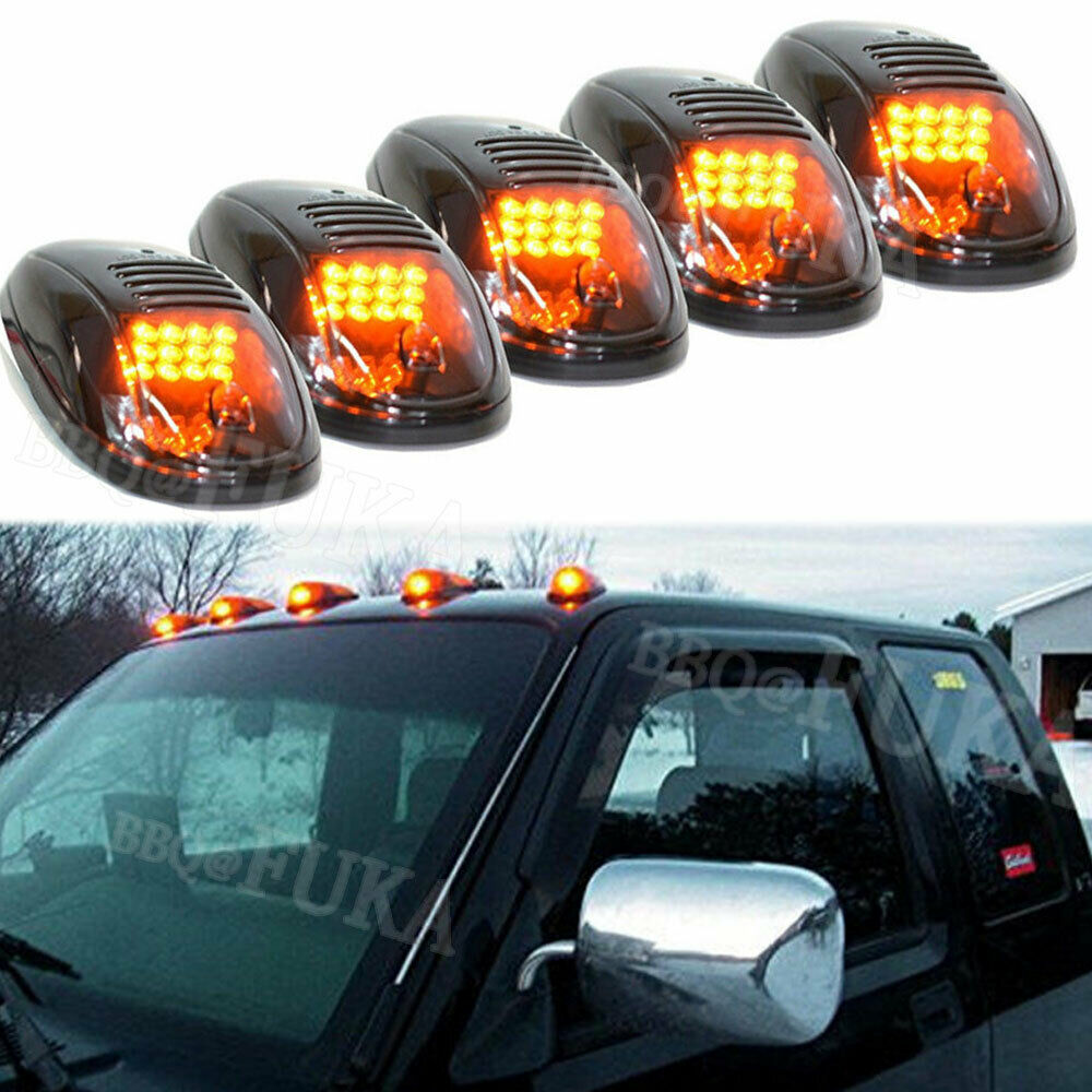 5x Smoked Black 12LED Cab Roof Top Marker Running Clearance Lights Lamps Durable