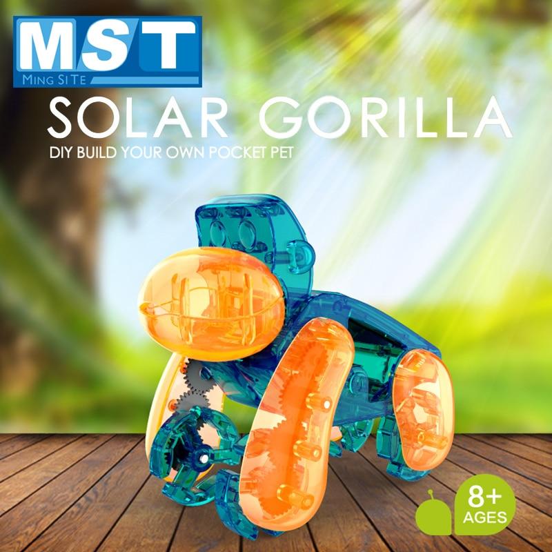 DIY Solar Orangutan Snail Assembly Toy Racing Puzzle Electric Remote Control Car Model Children's Science Scientific Experiment