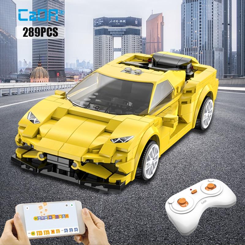 Программируемая в приложении городская модель спортивного автомобиля с дистанционным управлением, строительные блоки, высокотехнологичн...
