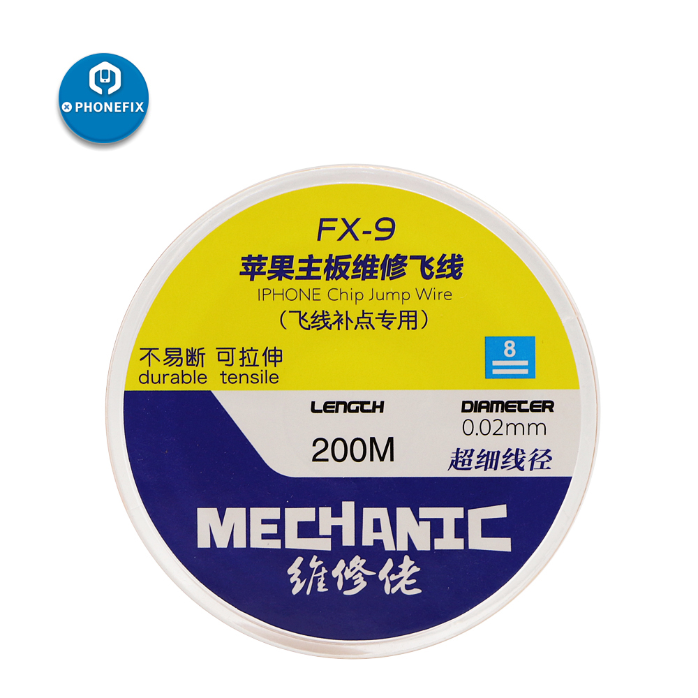 PHONEFIX Mechanic 0.01mm 0.02mm Insulation Pure Copper Jumper Wire For IPhone Motherboard Fingerprint Repair Link Wire