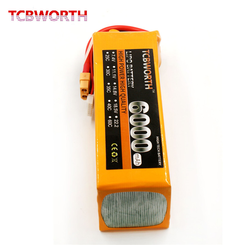 New Batteries 6S 22.2V 6000mAh 40C-80C RC Toys LiPo Battery For RC Airplane Helicopter Quadrotor Car Drone Boat Tank 6S LiPo