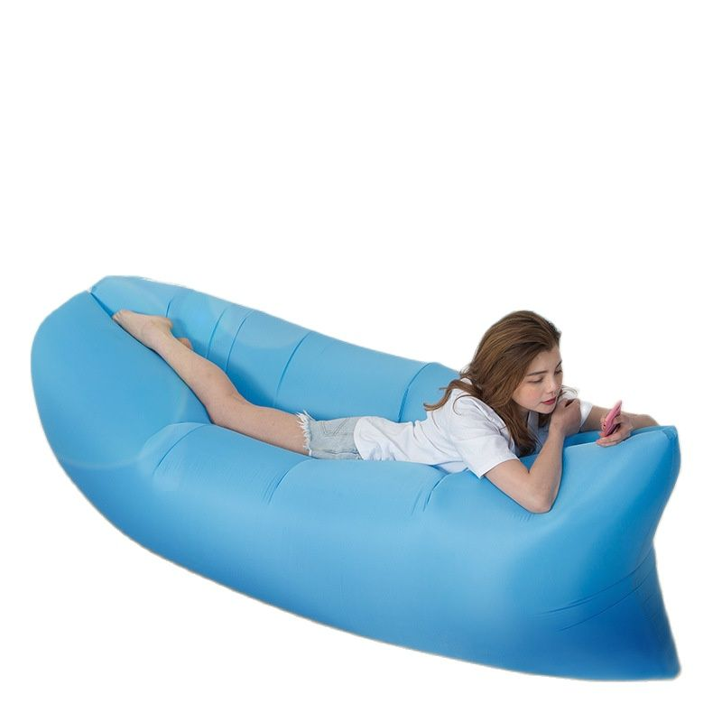 Outdoor Camping Beach Hammocl Lazy Inflatable Hammock Sleeping Bag Inflatable Hammock Sofa Bed Folding Fast Air Sofa|Hammocks| - AliExpress