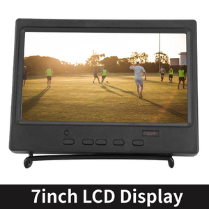 7 Inch Portable Monitor 1024x600 16:9 Multi-function Display Support HDMI/VGA/AV Input for Raspberry Pi Car Display CCTV