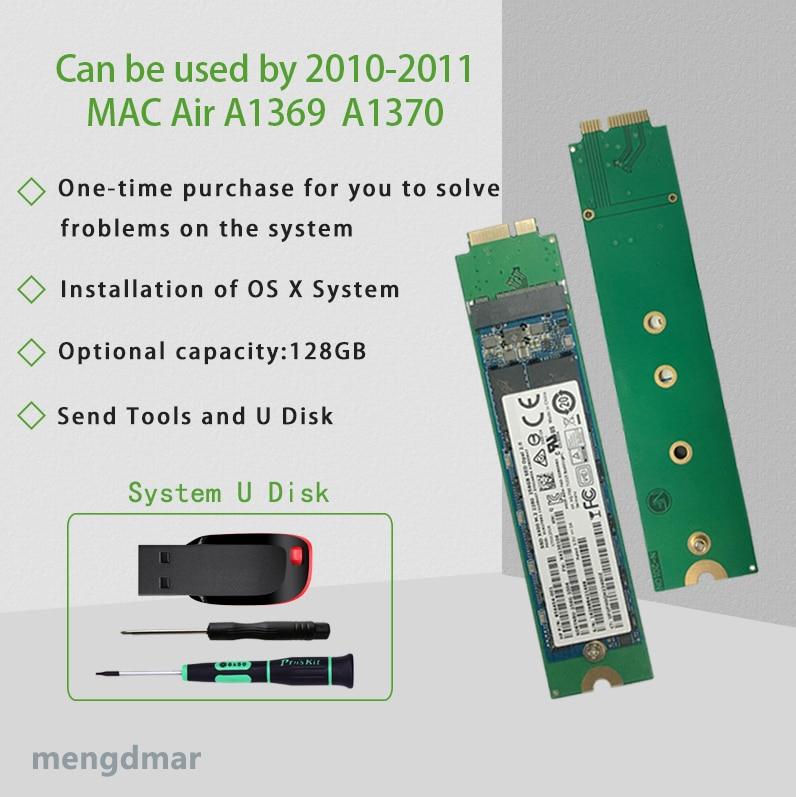 NOUVEAU 128 GO SSD Pour 2010 2011 Macbook Air A1369 A1370 DISQUE SSD MC503 MC504 MC505 MC 506 MC965 MC966 MC968 MC969 disque dur