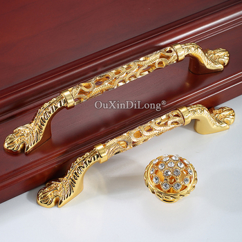 Stunning Designed 10PCS European Gold Kitchen Cabinet Door Handles Cupboard Wardrobe Drawer Cabinet Pulls Handles & Knobs