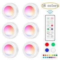 Luz led nocturna de 16 colores, linterna estroboscópica rápida con control remoto para gabinete, luz de ambiente para fiesta