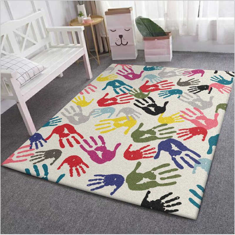 Living Room 40cmx60cm Rugs Palm Pattern