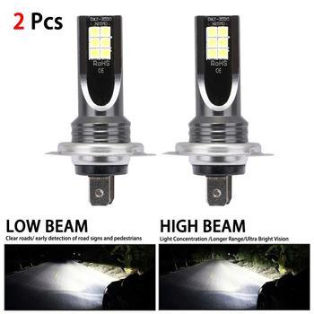цена на H7 80W 10000Lm Car LED Headlight Kit Conversion Globes Fog Lights Beam 6000K LED Lamps/Light Bulbs For Cars Super Bright