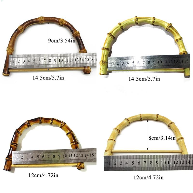 1PC D//Round Shaped Bamboo Handle Handbag Totes Purse Bag Handles
